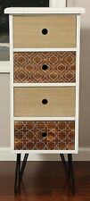 Small Wooden 4 Drawer Chest Of Drawers Dresser Bedroom Cabinet Storage Furniture