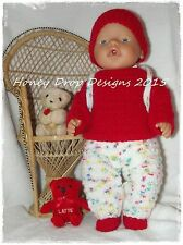 Honeydropdesigns  * PAPER KNITTING PATTERN #1 * For Baby Born/17 Inch Dolls