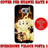 Cover custodia in gomma di silicone per Huawei MATE 8 fantasia POKER D'ASSI FUOC
