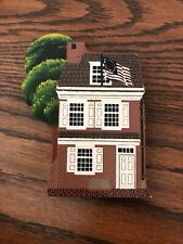 "Shelia's Collectible Houses ""Betsy Ross House 1990 Handwritten"