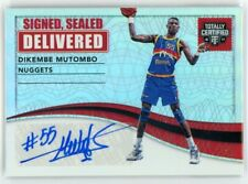 2016-17 DIKEMBE MUTOMBO 15/25 AUTO PANINI TOTALLY CERTIFIED DELIVERED AUTOGRAPHS