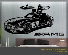 "Mercedes-benz SLS AMG Sport Car Wall Decal / 36"" X 22"""