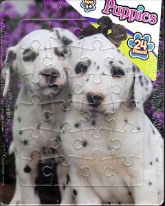 "Jigsaw Puzzle Flat PUPPIES Dalmations 24 pcs 8x11"""
