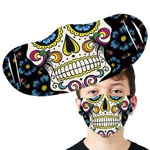 Sugar Skull Face Cover Anti Pollution Reusable Printed Face Mask