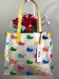 NWT DOONEY & BOURKE Multi-color Duck Logo Clear Medium Tote Shopper Bag