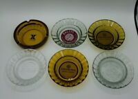 Lot of 6 Vintage Las Vegas Casino Ashtrays Bally's Castaways Peppermill Hilton +