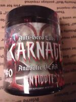 Carnage for size strength mass, gains lean hard, stamina, energy, pumps,antidote