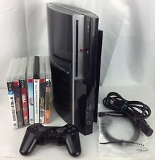 Sony PS3 80GB PlayStation 3 Fat CECHL01 - 7 GAMES Bundle Lot - WORKS