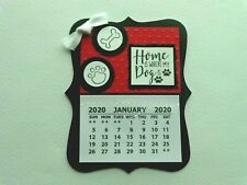 New ListingHome Where My Dog Is 2020 Mini Magnetic Calendar Monthly Tear Off Pages