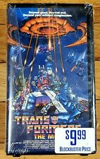 Transformers The Movie 1987 VHS New Sealed Hard Case Blockbuster
