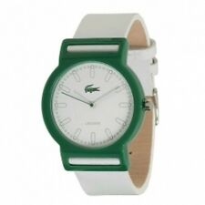 Lacoste Inspiration White Dial Women's Watch 2010492 White Leather Band