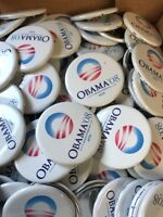 50 PINS - 2008 Barack Obama Official Presidential Campaign Buttons Pins ORIGINAL