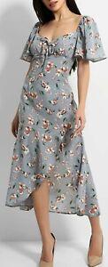 New Stunning Boohoo Size 10 Floral Midi Dress