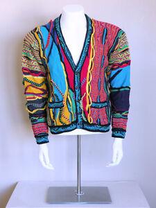 vtg 90s AUTHENTIC COOGI biggie hip hop vaporwave indie seapunk sweater cardigan