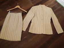 laura ashley linen suit  brocade stripe
