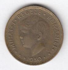 ROMANIA 1930 5 Lei - KM#48  -Mihail I -   Nickel Brass  R.12