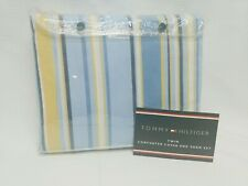 Tommy Hilfiger Comforter Cover Twin 1-Sham Duvet 100% cotton Yellow Blue Striped