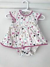 Jack and Milly One Piece Size 000 Newborn 0-3 months Floral Dress Baby Romper