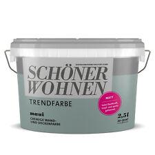 SCHÖNER WOHNEN Trendfarbe Wandfarbe Deckenfarbe maui 2,5 l