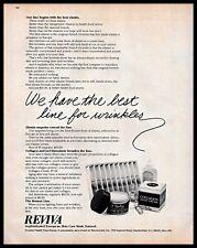 Reviva Skin Care Products Vintage Photo PRINT ADVERTISEMENT Cream Collagen B&W