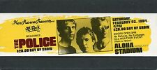 1984 The Police unused full concert ticket Synchronicity Tour Honolulu Roxanne