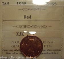 Canada Elizabeth II 1958 Small Cent - ICCS MS-65 (XJK 733)