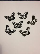 25 Black butterflies wedding crafts, scrapbooking, table confetti
