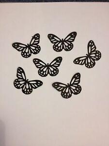 25 Black butterflies wedding crafts, scrapbooking, table confetti