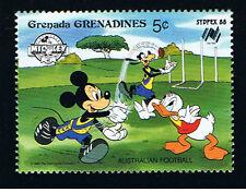 WALT DISNEY GRENADA - GRENADINES MICKEY GOOFY DONALD 1 Francobollo 1988 nuovo