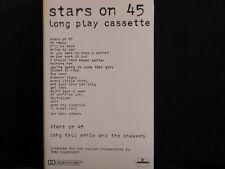 Stars On 45. Long Play Cassette. Cassette Tape. 1981. Made In Australia