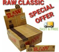 Raw rolling papers classic paper king size and raw Roach Tips Smoking tobacco