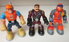 3 Rescue Hero Action Figures (Jack Hammer/Billy Blazes/Bob Sled)