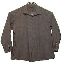 Claiborne Men's Long Sleeve Navy Checked Shirt Size 3XLT - EUC!!!