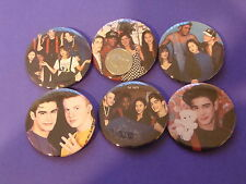 """The Party MMC Damon Pampolina & Tiffini Hale Set Of 6 Large 2 1/4"""" Buttons Pins"""
