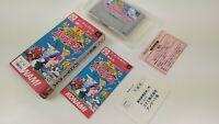 Jikkyo Oshaberi Parodius CIB Super Nintendo Famicom JAP Japan SFC SNES
