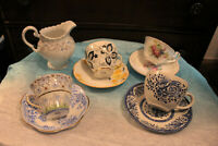 Vintage Lot of Teacups Saucers Creamer Bone China Windsor Rosina Occupied Japan