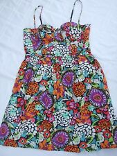 MODA INTERNATIONAL DRESS SIZE 8 SUPERB CUPPED BUST FLORAL