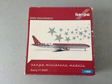 VINTAGE#Herpa Christmas 2005 Boeing 777-300ER D-XMAS Model 1:500 Scale #NIB