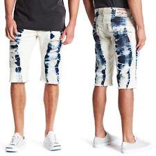 TRUE RELIGION Rip and Bleach Details Straight Cut-Off Shorts Sz.34 NWT $229