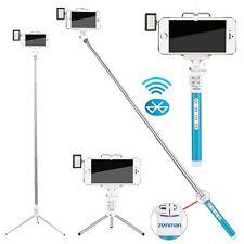 Zonman Selfie Stick for iPhone 6 5 + LED Light Portable Pocket Spotlight - Blue