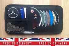 Mercedes Benz Cartera De Almacenamiento Organizador Coche Visera de sol S Clase Sl SLK CLS CLK CLA
