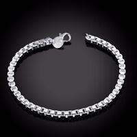 ASAMO Damen Herren Armband 925 Sterling Silber plattiert A1172