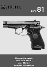 Beretta Model 81 Pistol Instruction and Maintenance Manual