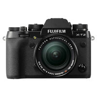 Fujifilm X-T2 Mirrorless Digital Camera Black with 18-55mm f/2.8-4 R LM OIS Lens