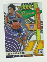 2019-20 Panini Donruss Optic EXPRESS LANE #19 De'AARON FOX Sacramento Kings