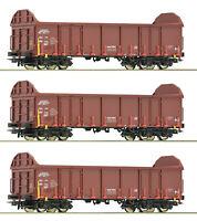 """Roco H0 76942-S Güterwagen """"Bauart Ealos-t"""" der CD (3 Stück) - NEU + OVP"""