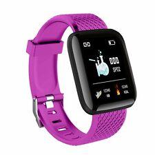 Fit Montre Intelligente Cardiofréquencemètre Podomètre Bracelet Connecté Violet