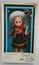 American Western Cow Girl Boy Tiara Vinyl Doll By Playmates Mint in Box c. 1981