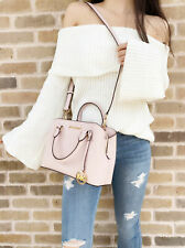 Michael Kors Savannah Small Satchel Leather Crossbody Handbag Blossom