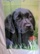 Black Labrador Retriever Puppy Outdoor Flag 27Wx 39L See Pics & Details